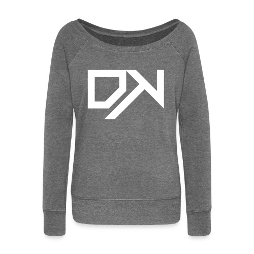 DewKee Logo Mug White - Women's Boat Neck Long Sleeve Top