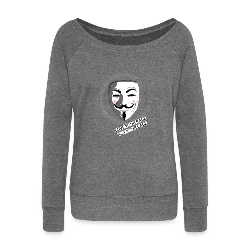 Anonymous Love Your Rage - Women's Boat Neck Long Sleeve Top