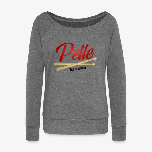 Pette the Drummer - Women's Boat Neck Long Sleeve Top