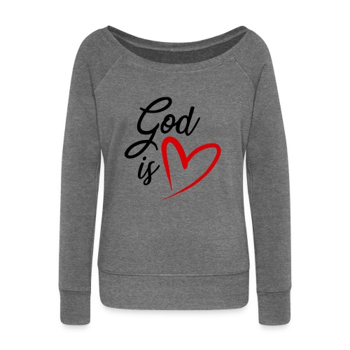 God is love 2N - Felpa con scollo a barca da donna, marca Bella