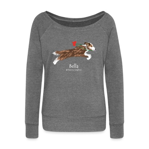 Custom design Bella - Women's Boat Neck Long Sleeve Top