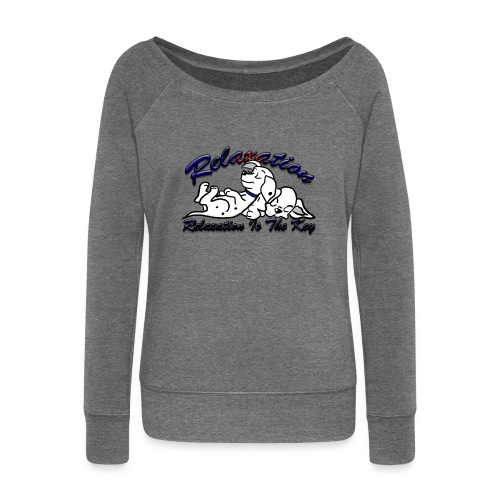 Relaxation Is The Key - Women's Boat Neck Long Sleeve Top