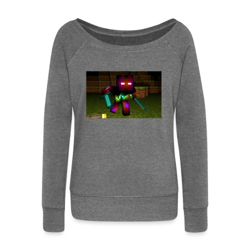 AwesomeSauce Minecraft 2 Swords - Women's Boat Neck Long Sleeve Top