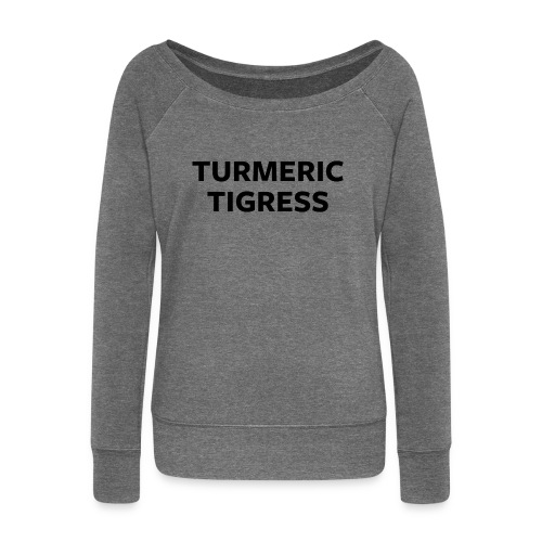 Turmeric Tigress - Women's Boat Neck Long Sleeve Top
