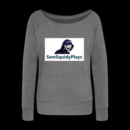 SamSquidyplayz skeleton - Women's Boat Neck Long Sleeve Top