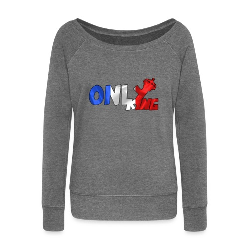Logo ONLY KING edition francaise - Pull Femme col bateau de Bella