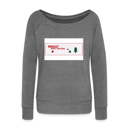 Christmas Exclusive - Women's Boat Neck Long Sleeve Top