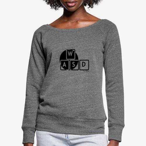 WASD Gaming is Life - Women's Boat Neck Long Sleeve Top