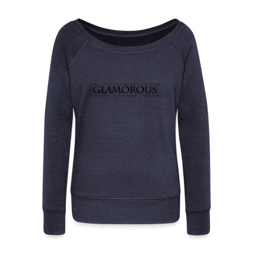 Glamorous London LOGO - Women's Boat Neck Long Sleeve Top