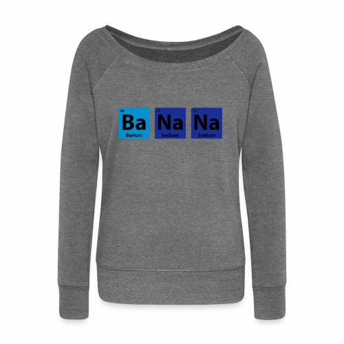 Periodic Table: BaNaNa - Women's Boat Neck Long Sleeve Top