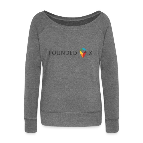 FoundedX logo png - Women's Boat Neck Long Sleeve Top