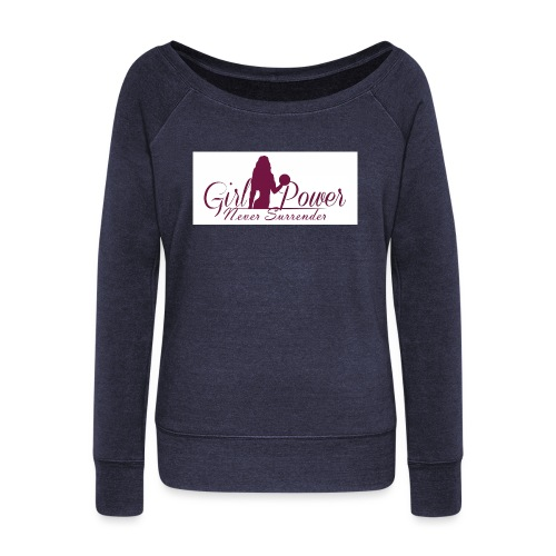 GIRL POWER NEVER SURRENDER - Sudadera con escote drapeado mujer