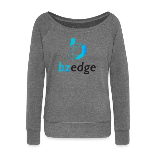 BZEdge Cutting Edge Crypto - Women's Boat Neck Long Sleeve Top