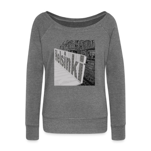 helsinki tram typo - Women's Boat Neck Long Sleeve Top