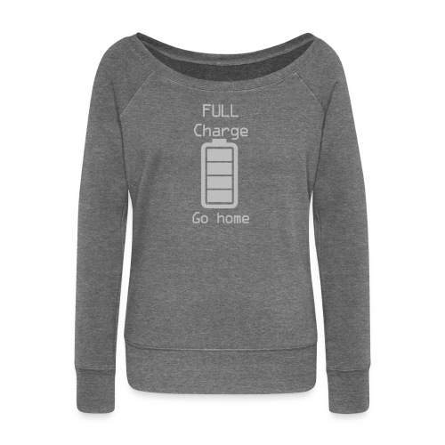 Invisible Gym Design - Women's Boat Neck Long Sleeve Top