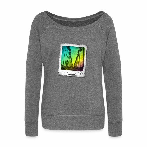 Summer Time - Women's Boat Neck Long Sleeve Top