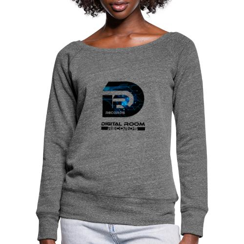 Digital Room Records Official Logo effect - Women's Boat Neck Long Sleeve Top
