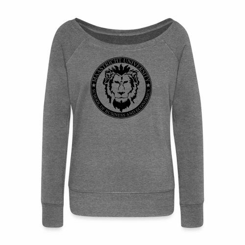 SBE Lion Black - Women's Boat Neck Long Sleeve Top