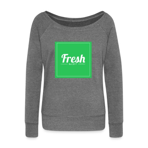 Green square - Women's Boat Neck Long Sleeve Top