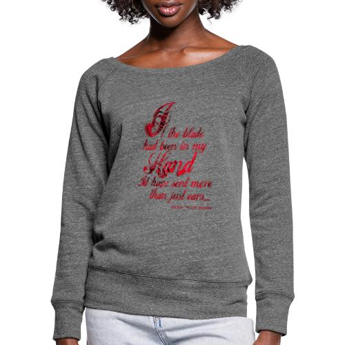 More than Ears Quotation - Women's Boat Neck Long Sleeve Top