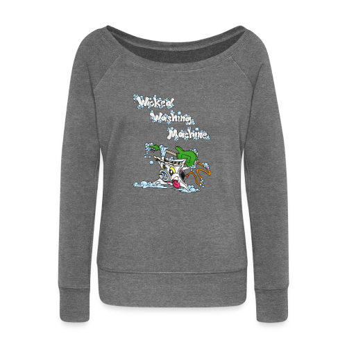 Wicked Washing Machine Cartoon and Logo - Vrouwen trui met U-hals van Bella