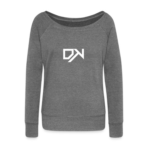 DewKee Logo Shirt Black - Women's Boat Neck Long Sleeve Top