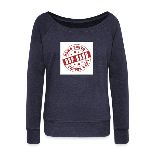 DSP band logo - Women's Boat Neck Long Sleeve Top