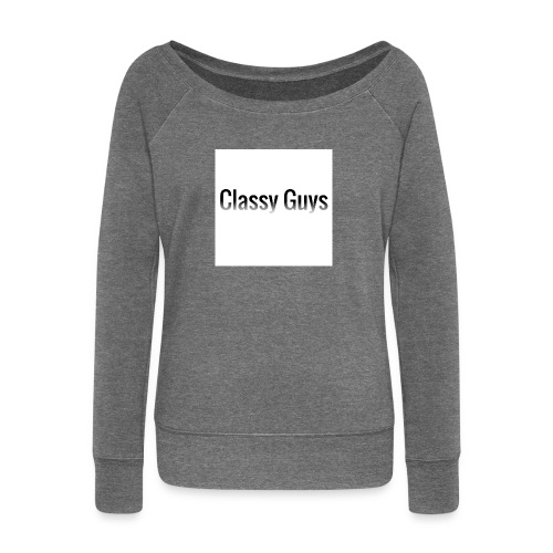 Classy Guys Simple Name - Women's Boat Neck Long Sleeve Top