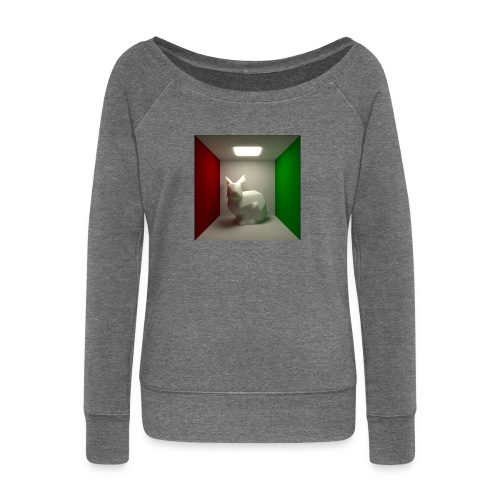 Bunny in a Box - Women's Boat Neck Long Sleeve Top