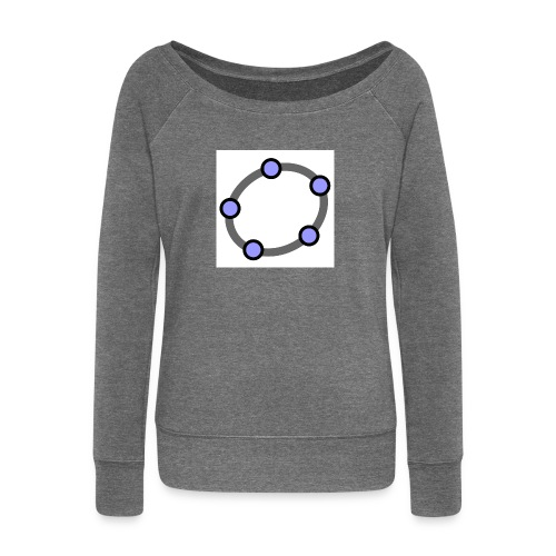 GeoGebra Ellipse - Women's Boat Neck Long Sleeve Top