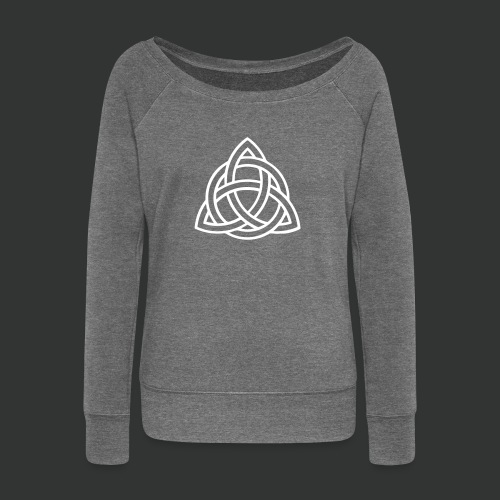 Celtic Knot — Celtic Circle - Women's Boat Neck Long Sleeve Top