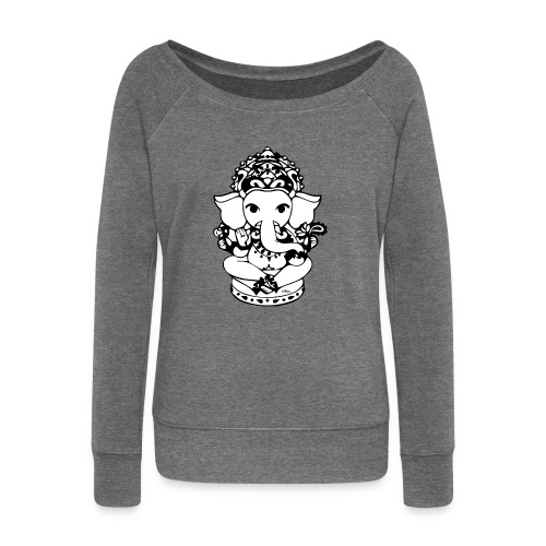 Wee Ganesh - Women's Boat Neck Long Sleeve Top