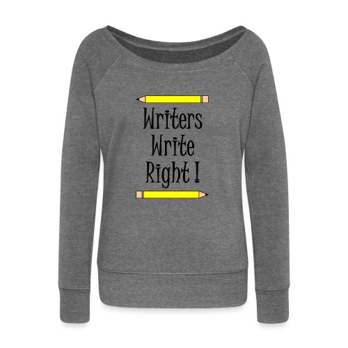 Writers Write Right - Women's Boat Neck Long Sleeve Top
