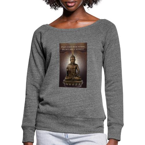 Peace from Within - Women's Boat Neck Long Sleeve Top