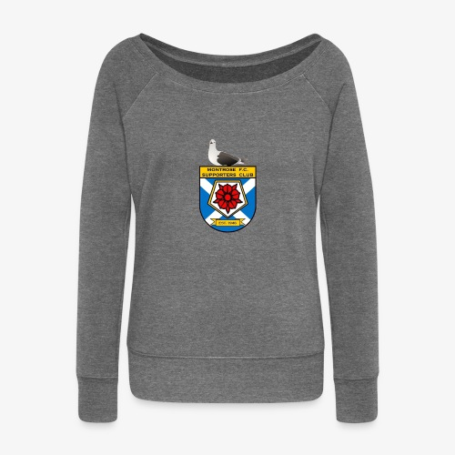 Montrose FC Supporters Club Seagull - Women's Boat Neck Long Sleeve Top
