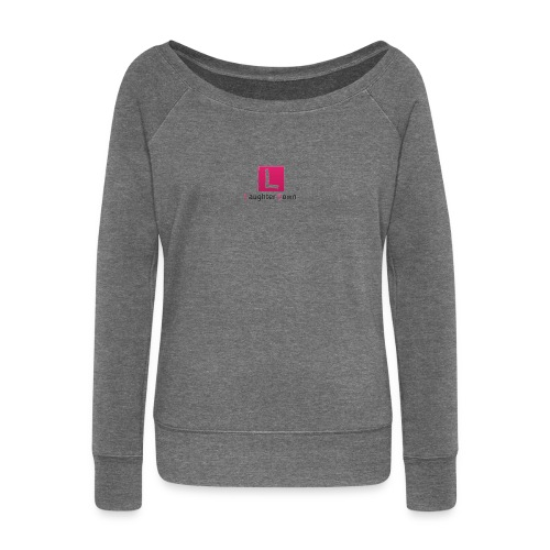 laughterdown official - Women's Boat Neck Long Sleeve Top