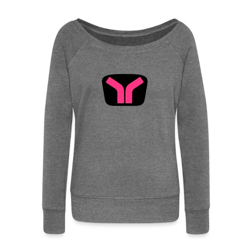 Yugo logo colored design - Women's Boat Neck Long Sleeve Top