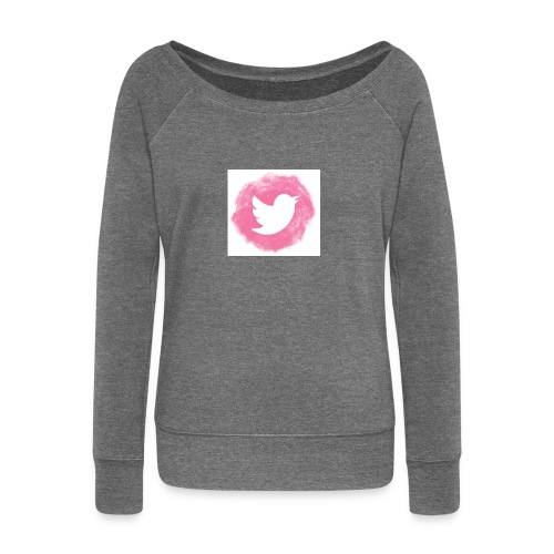 pink twitt - Women's Boat Neck Long Sleeve Top