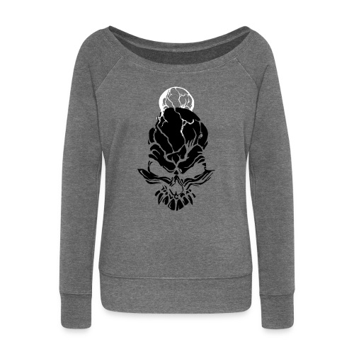 F noize fronte png - Women's Boat Neck Long Sleeve Top