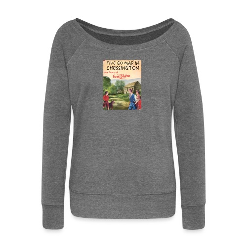 Five Go Mad In Chessington - Women's Boat Neck Long Sleeve Top