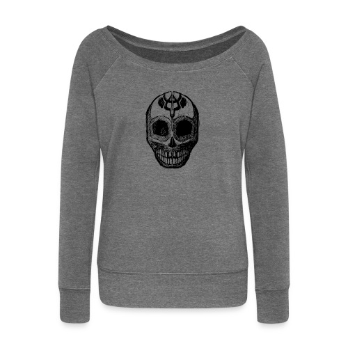 Skull of Discovery - Women's Boat Neck Long Sleeve Top