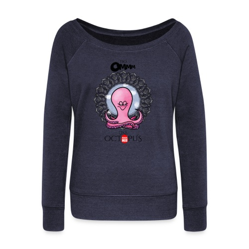 octopus meditation - Women's Boat Neck Long Sleeve Top