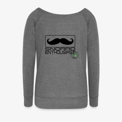 Snorro enthusiastic (black) - Women's Boat Neck Long Sleeve Top