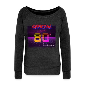Official product of the 80's clothing - Women's Boat Neck Long Sleeve Top
