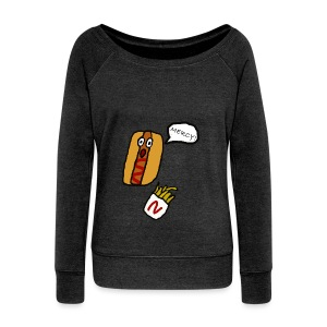 HOTDOG MERCY - Women's Boat Neck Long Sleeve Top