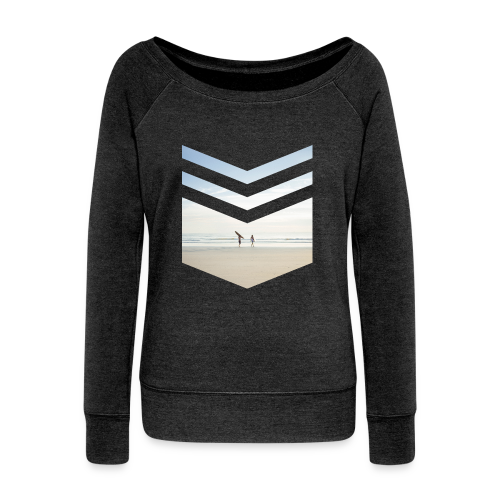 Surfing Beach - Frauen Pullover mit U-Boot-Ausschnitt von Bella