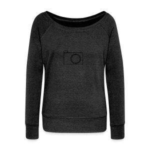 camera - Women's Boat Neck Long Sleeve Top