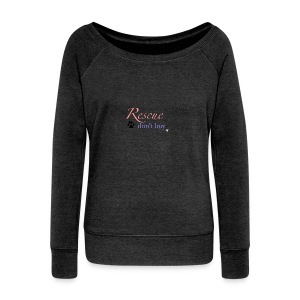 Rescue don't buy - Women's Boat Neck Long Sleeve Top