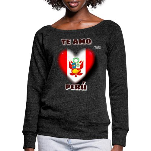 Te Amo Peru Corazon - Women's Boat Neck Long Sleeve Top