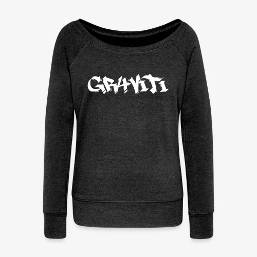 white gravity png - Women's Boat Neck Long Sleeve Top